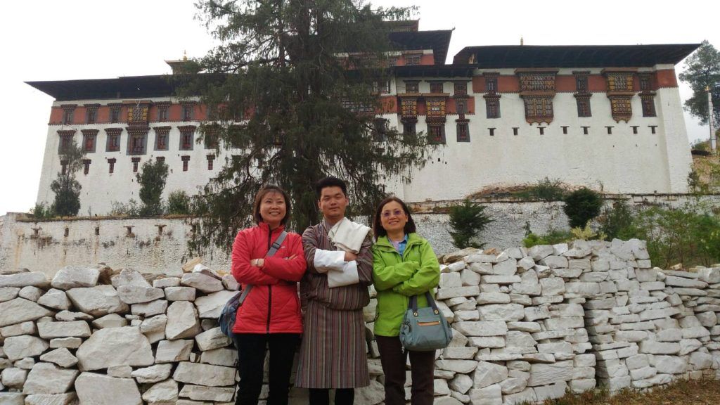 導遊 Tshering 穿著傳統國服
